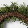 """24"""" Faux Juniper Wreath with Berries - Hearth & Hand™ with Magnolia - image 2 of 4"""