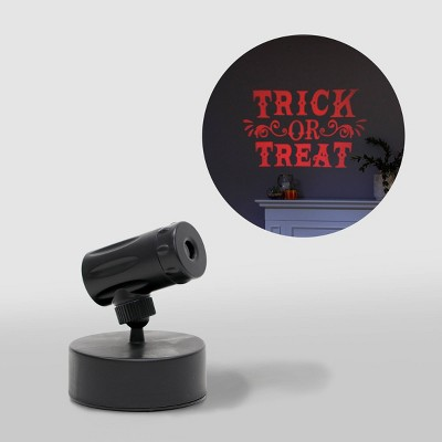 Philips LED Orange Trick or Treat Battery Operated Halloween Projector Halloween Special Effects Light