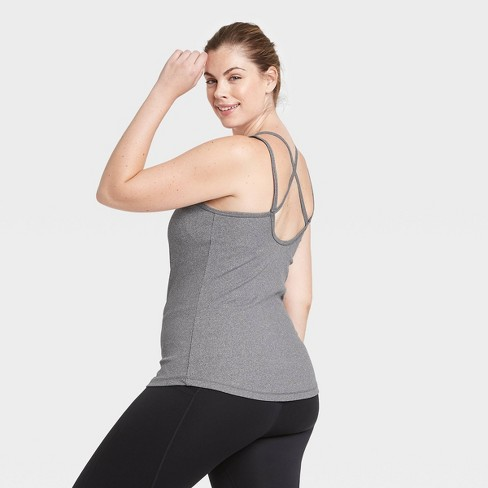 Women's Ribbed Tank Top with Shelf Bra - All in Motion™ - image 1 of 4