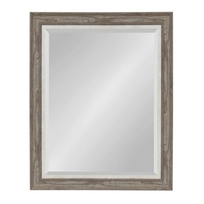 """28"""" x 34"""" Woodway Framed Wall Mirror Gray - Kate and Laurel"""