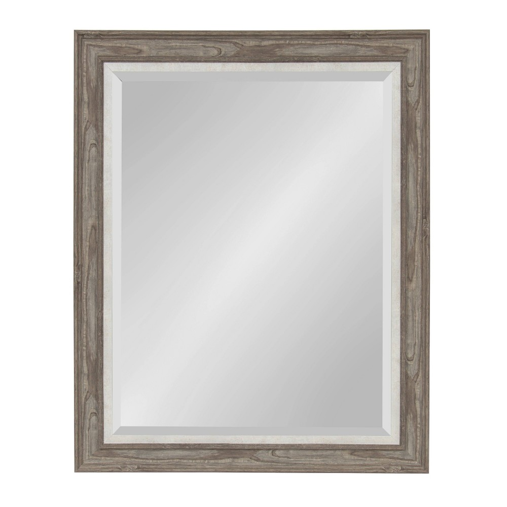 """Image of """"27.5""""""""x33.5"""""""" Woodway Framed Wall Mirror Gray - Kate and Laurel"""""""