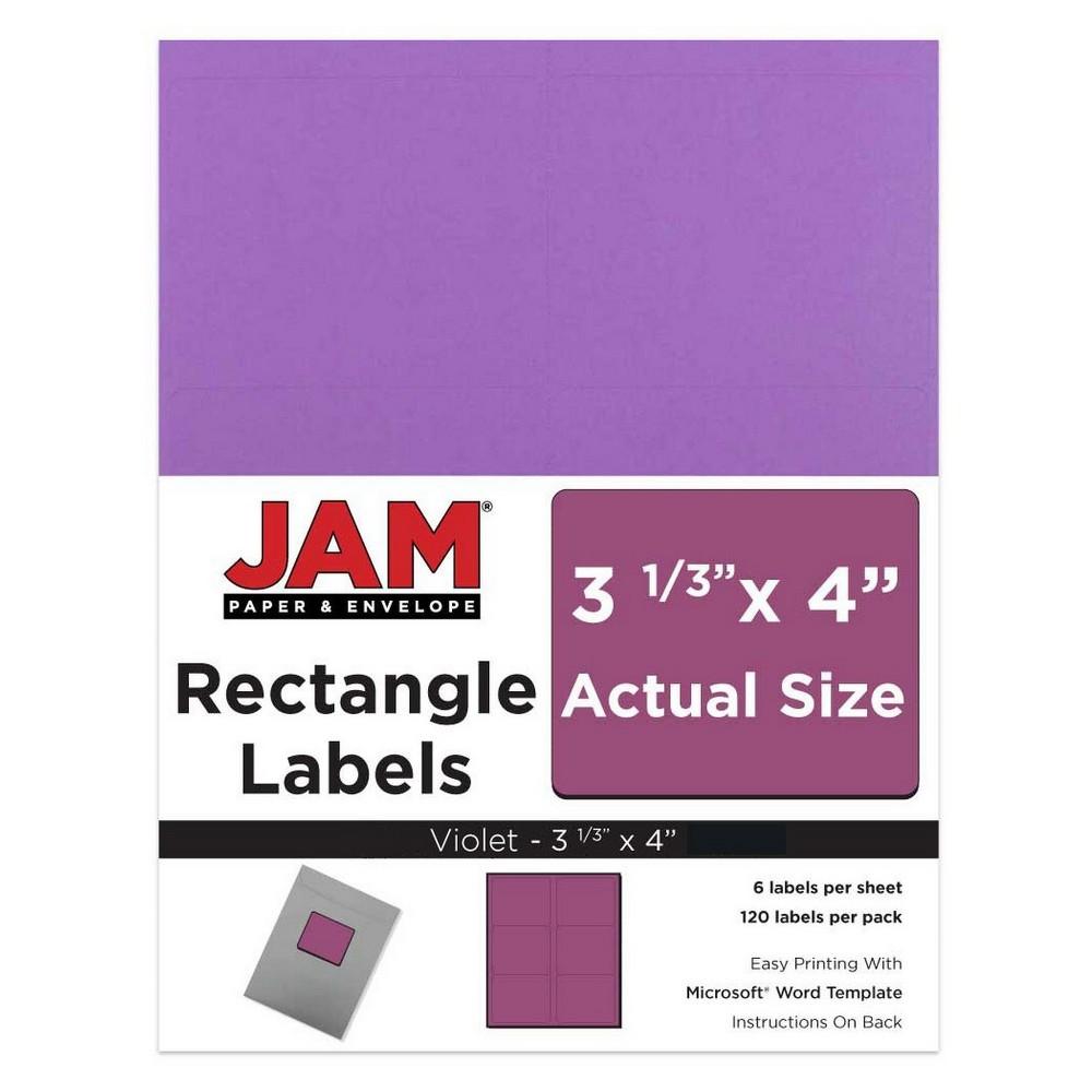 "Image of ""JAM Paper Mailing Labels 3 1/3"""" X 4"""" 120ct - Purple"""