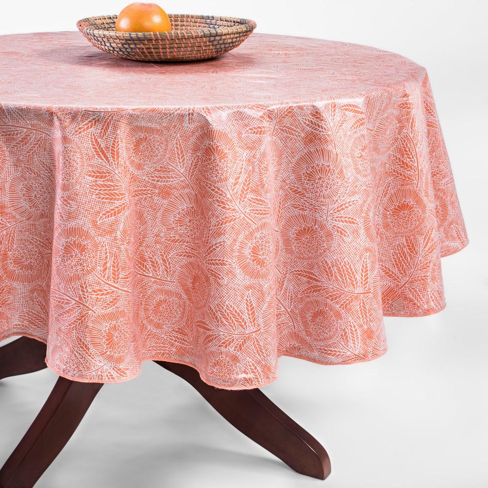 Orange Oilcloth Tablecloth 70 Round - Opalhouse