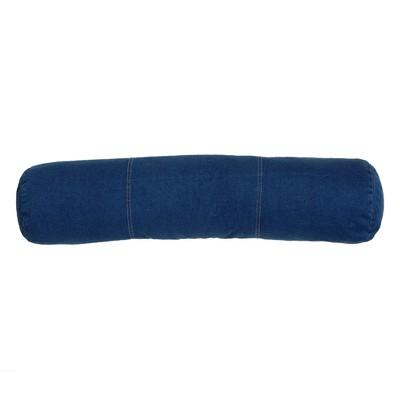 Denim Jumbo Bolster Pillow - Blue