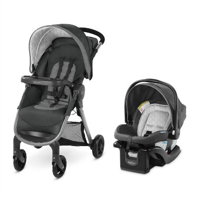 Graco FastAction Fold SE Travel System with SnugRide Infant Car Seat - Derby