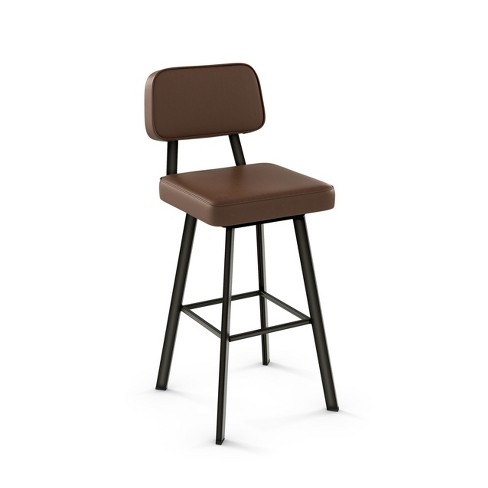 Amisco Clarkson 26 Inch Counter Stool With Upholstered Seat Target