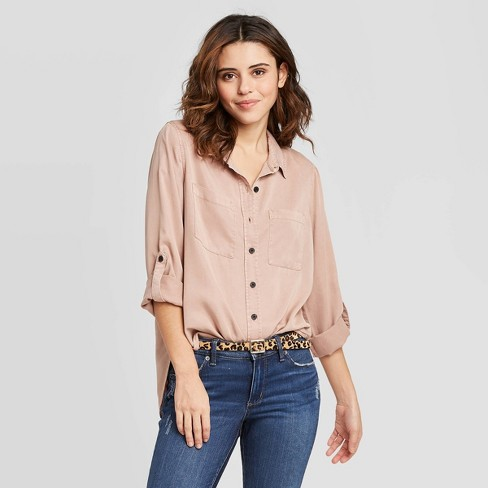 Women's Long Sleeve Button-Down Shirt - Universal Thread™ - image 1 of 3