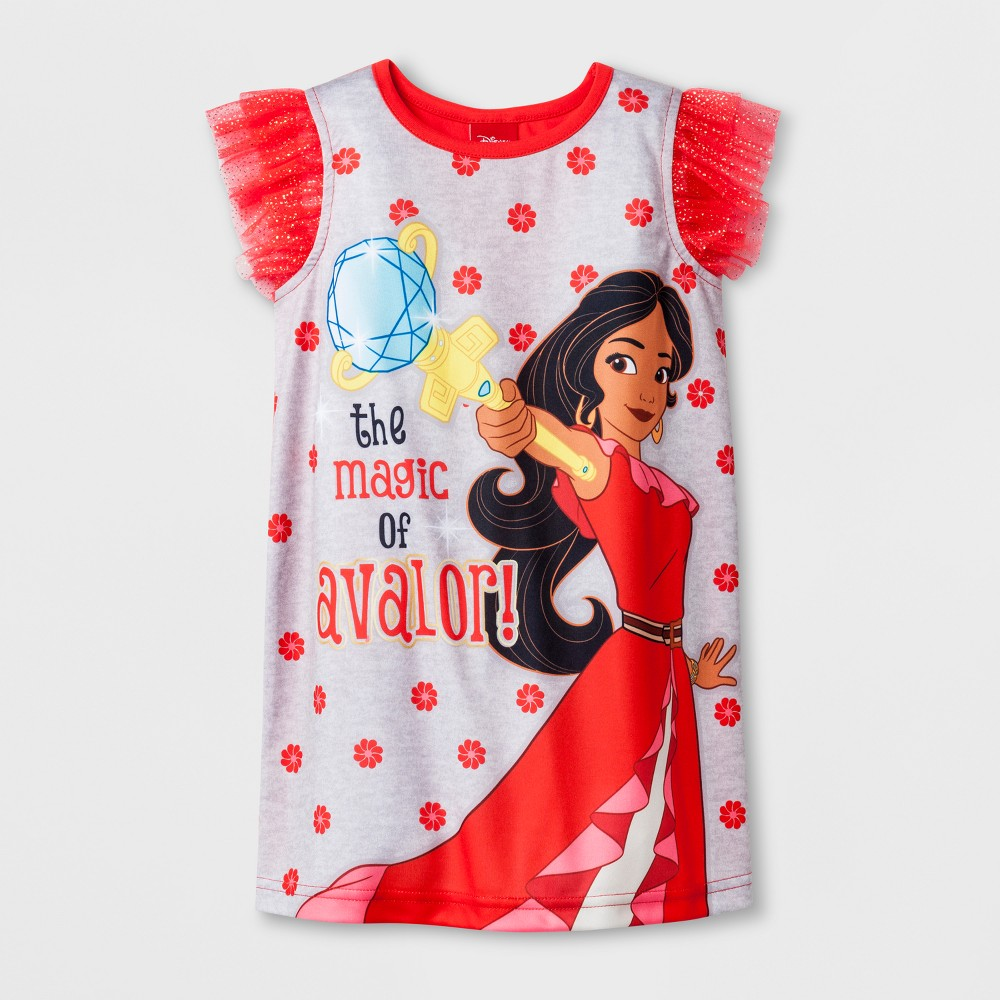 Toddler Girls' Disney Elena of Avalor Nightgowns - Red 4T
