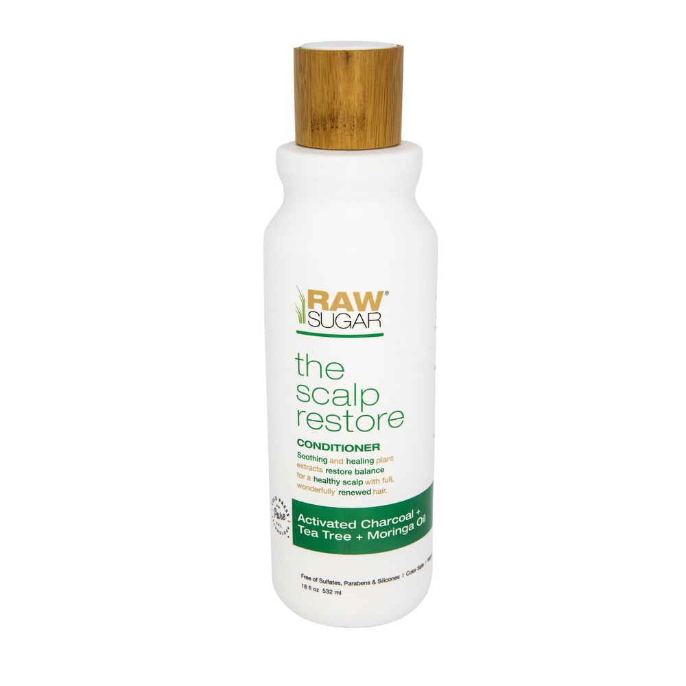 Image of Raw Sugar Scalp Renew Conditioner Activated Charcoal + Tea Tree + Moringa Oil - 18 fl oz