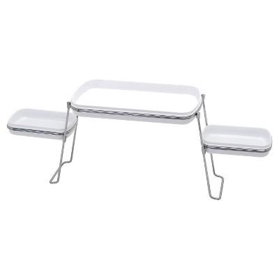 Over the Faucet Shelf Trays White/Chrome - Zenna Home