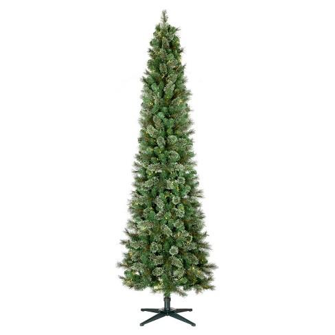 75ft prelit artificial christmas tree pencil virginia pine clear lights wondershop - Pre Lit Pencil Christmas Tree