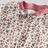Baby Girls' Organic Cotton Floral Sleep N' Play - little planet by carter's Pink/Beige - image 2 of 3