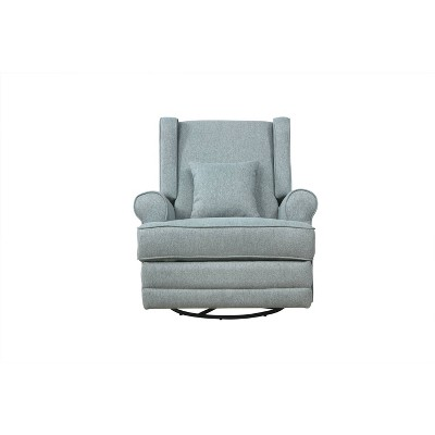 Evolur Phoniex Upholstered Wingback Power Recliner in Iron