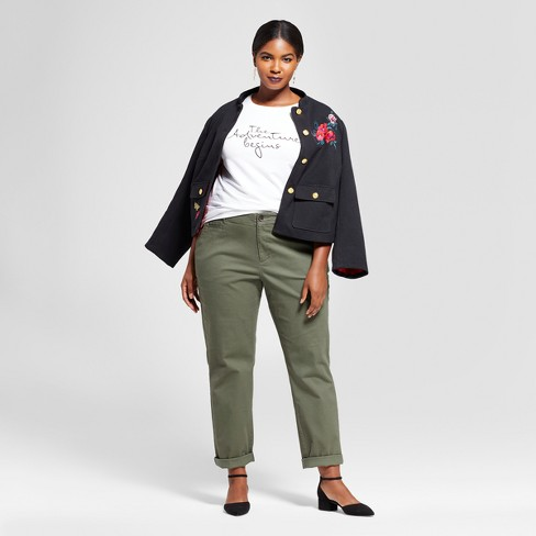 7e1e02454948a Women s Plus Size Slim Chino Pants - A New Day™   Target