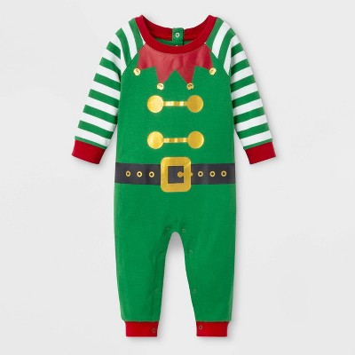 Baby Holiday Elf Union Suit - Wondershop™ Green 3-6M