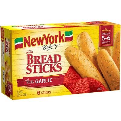 New York Bakery Frozen Breadsticks with Garlic - 10oz