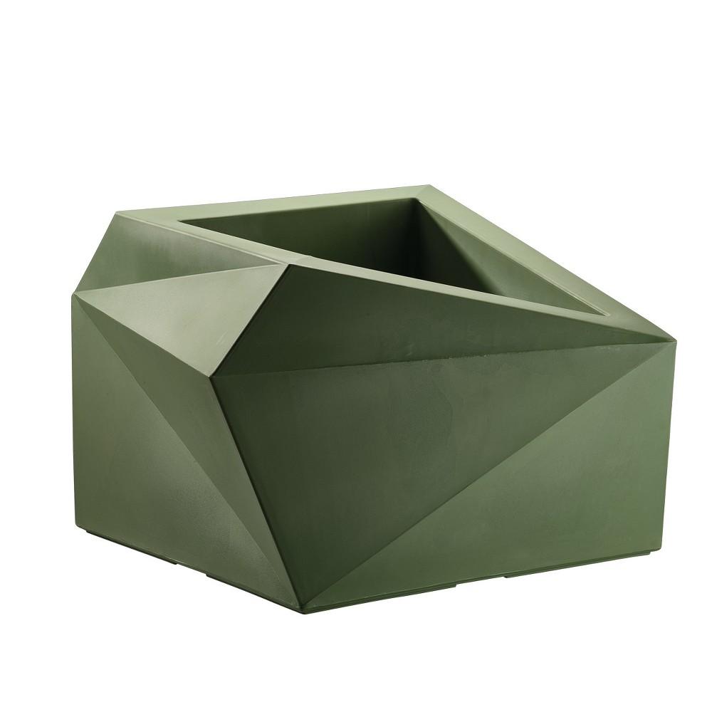 23'' Square Origami Planter - Green - Crescent Garden