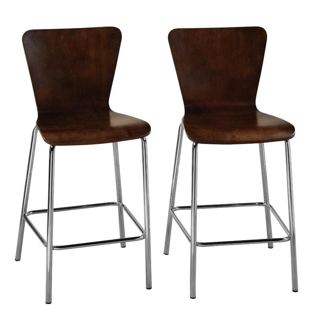"Image of ""24"""" Hillboro Stool Espresso Brown - Buylateral"""