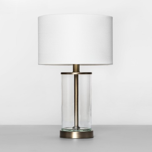 Fillable Accent with USB Table Lamp Brass - Project 62™ - image 1 of 4