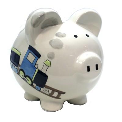 "Bank 7.5"" Box Car Train Piggy Bank Railroad Track  -  Decorative Banks"