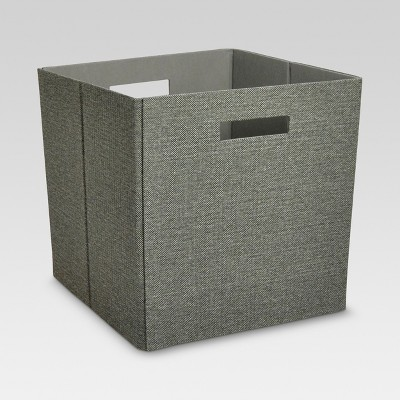 Fabric Cube Storage Bin Dark Gray 13  - Threshold™