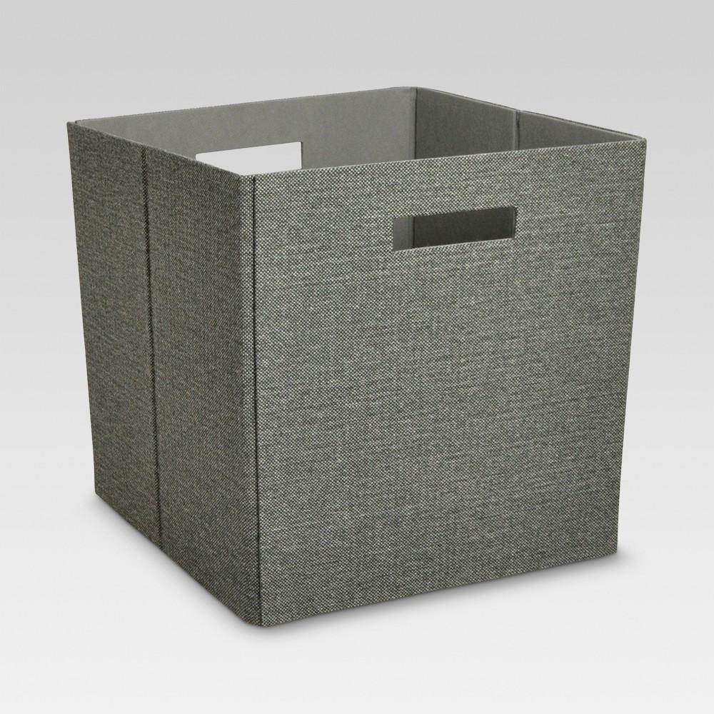 13 34 Fabric Cube Storage Bin Dark Mocha Gray Threshold 8482