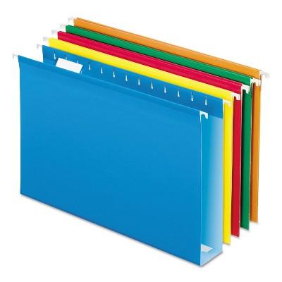 Pendaflex Extra Cap Hang File Folders w/Box Bottom Legal Size 1/5-Cut Tab Asst 5143X2ASST