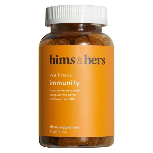 Hims & Hers Immunity Gummies - Vitamin C + B12 - Citrus Flavor : Target