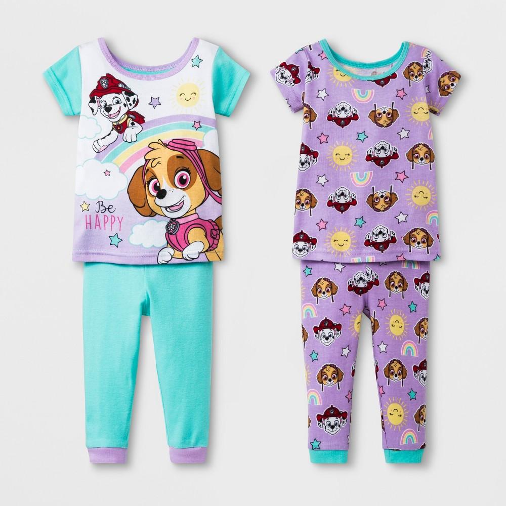 Baby Girls' Paw Patrol 4pc Pajama Set - Aqua/Purple 24M, Green