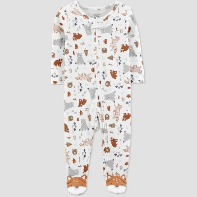 Baby Boys' Animal One Piece Pajama - Just One You® made by carter's White 6M