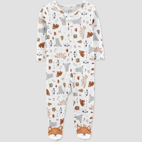 Baby Boys' Animal Sleep N' Play - Just One You® made by carter's White - image 1 of 3