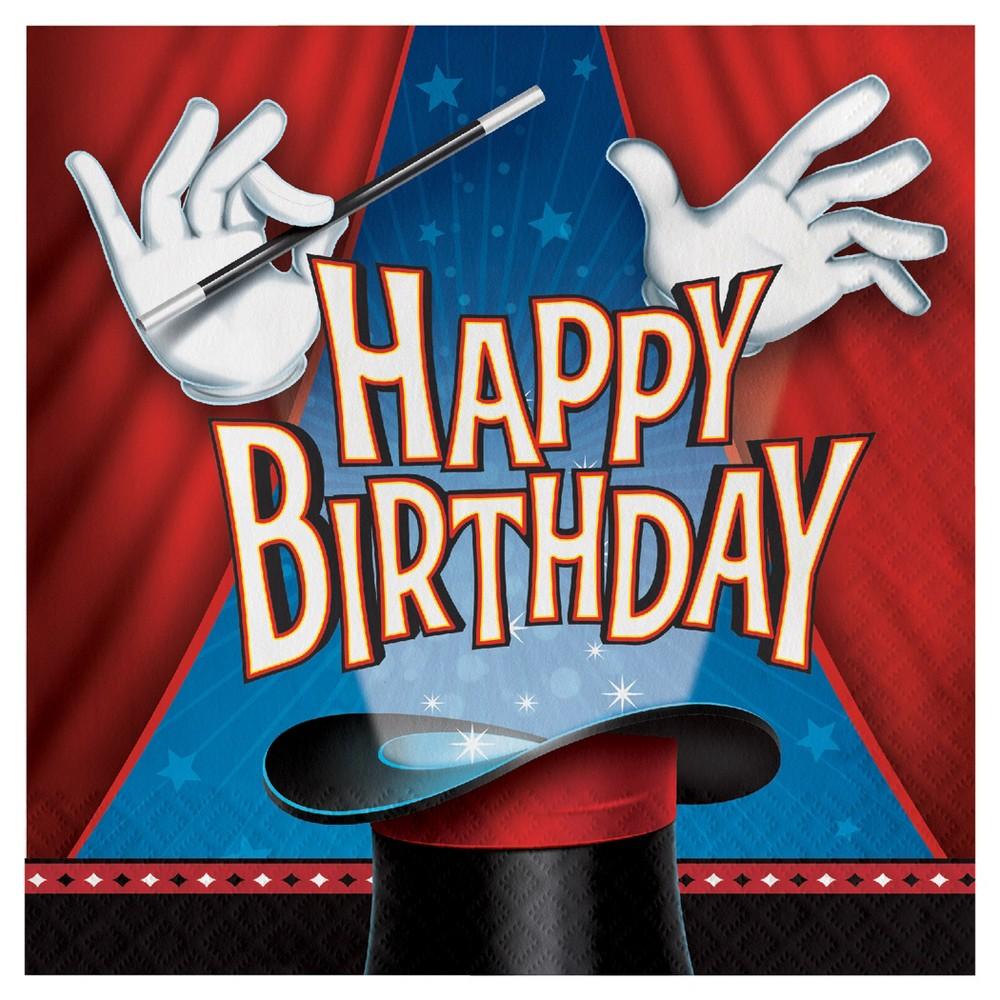 16ct Magic Party Birthday Napkins