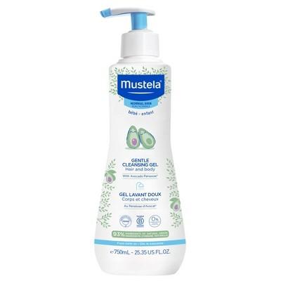 Mustela Gentle Cleansing Gel Baby Body Wash and Baby Shampoo - 23.35 fl oz
