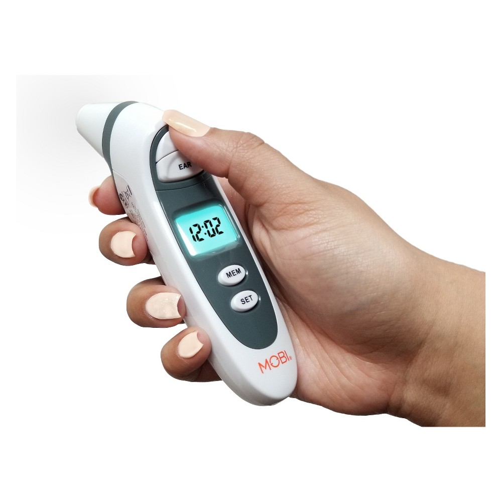 Image of MOBI DualScan Prime Ear and Forehead Thermometer, White