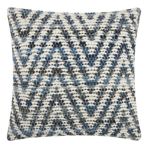Blue Zig Zag Throw Pillow - Mina Victory - image 1 of 2