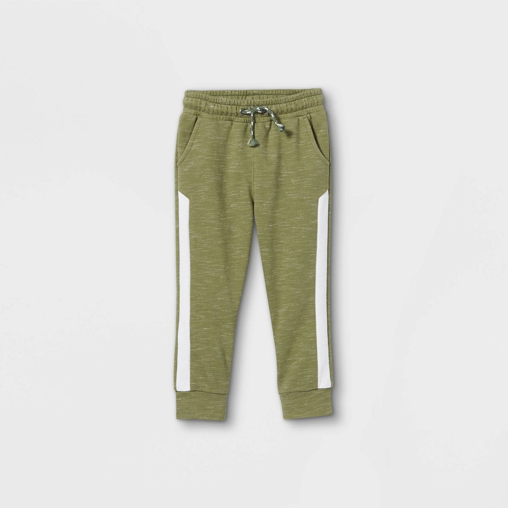 Toddler Boys 39 Athletic Striped Knit Pull On Jogger Pants Cat 38 Jack 8482 Olive Green 4t