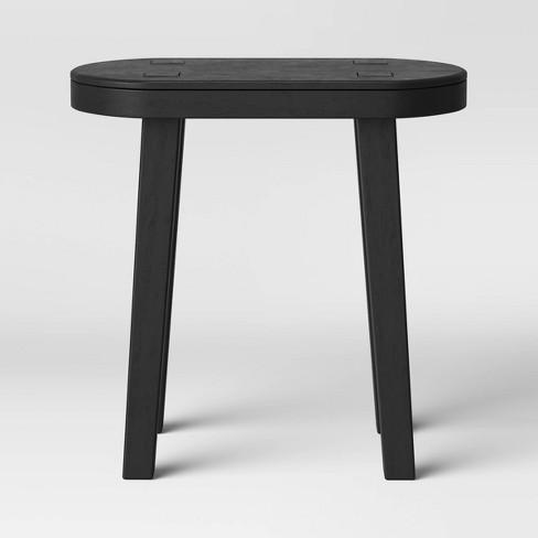 Woodland Tall Carved Wood Table Black - Threshold™ - image 1 of 4