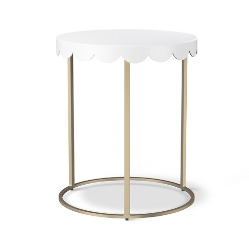 Scallop Kids' Accent Table - Campanula White - Pillowfort™ - image 1 of 4