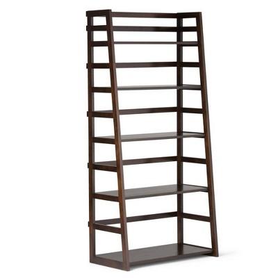 """63""""x30"""" Normandy Ladder Shelf Bookcase Farmhouse - Wyndenhall"""