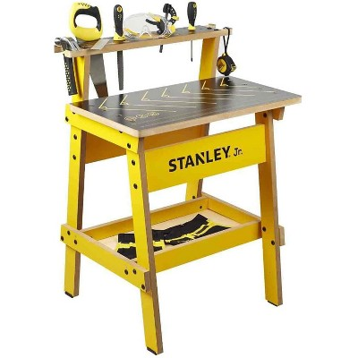 Red Tool Box Stanley Jr. Wood Work Bench | Real Tools for Kids