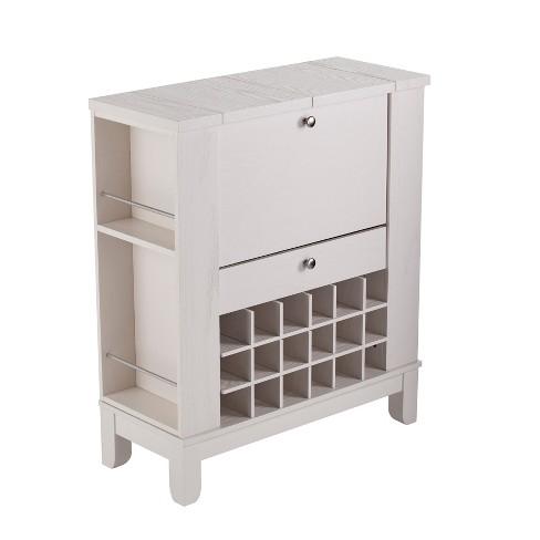 Warner Fold Out Bar Cabinet White - Aiden Lane - image 1 of 8