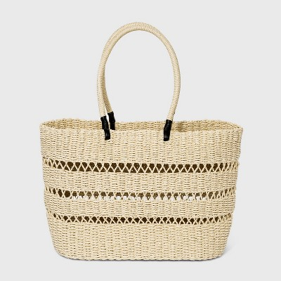 Straw Tote Handbag - A New Day™