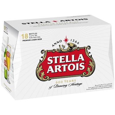 Stella Artois Lager Beer - 18pk/11.2 fl oz Bottles
