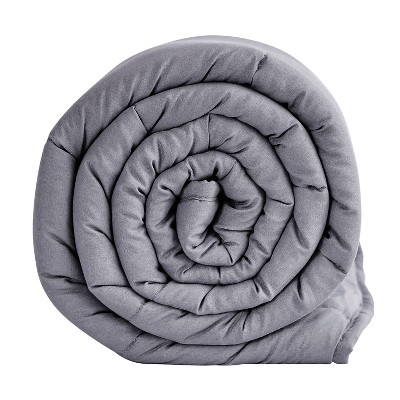 """48"""" x 72"""" 12lbs Microfiber Weighted Blanket Gray - Pur Serenity"""