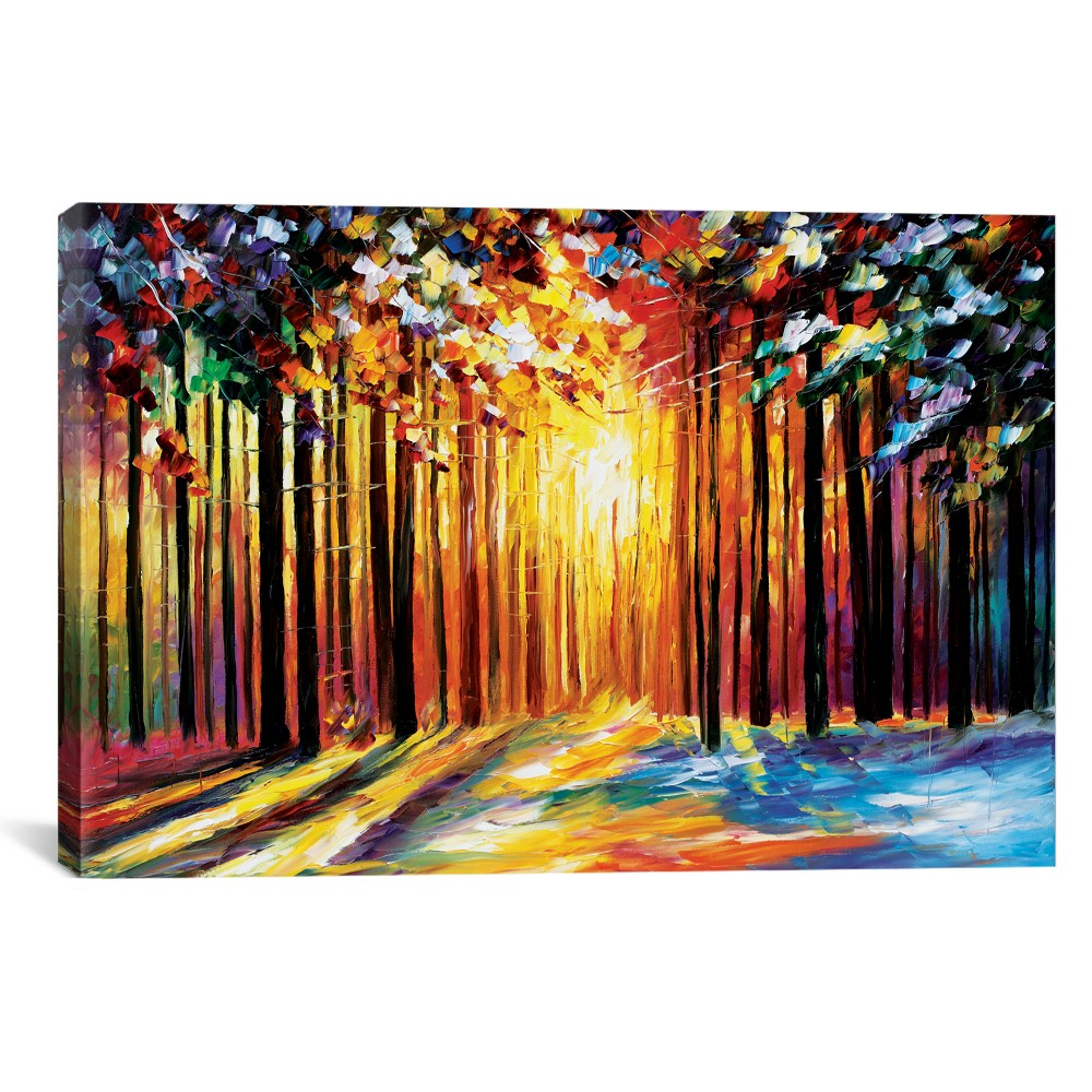 "Image of ""12""""x18"""" Sun Of January by Leonid Afremov Unframed Wall Canvas Print Yellow - iCanvas"""