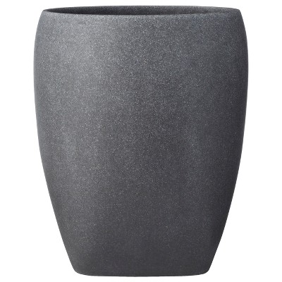 Charcoal Stone Wastebasket Gray - Allure Home Creations