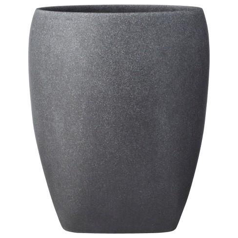 Charcoal Stone Wastebasket Gray - image 1 of 1