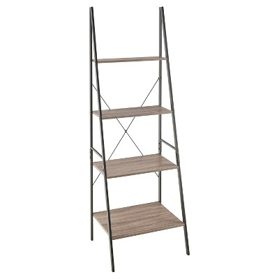 70  Ladder Bookshelf Mixed Material - 70  - Gray - ClosetMaid