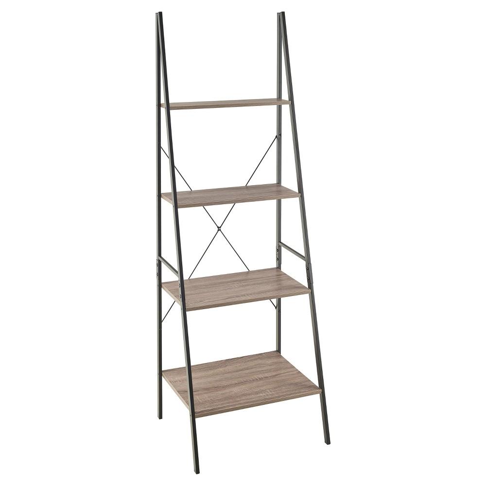 "Image of ""70"""" Ladder Bookshelf Mixed Material Gray - ClosetMaid"""