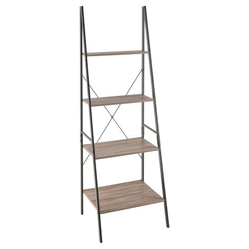 70 Ladder Bookshelf Mixed Material